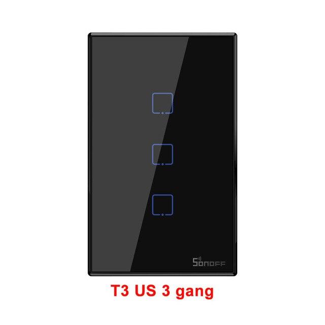 Công Tắc Wifi Thông Minh Sonoff T3 US 3 nút cao cấp (New version 2019)