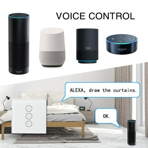tuya curtain voice control