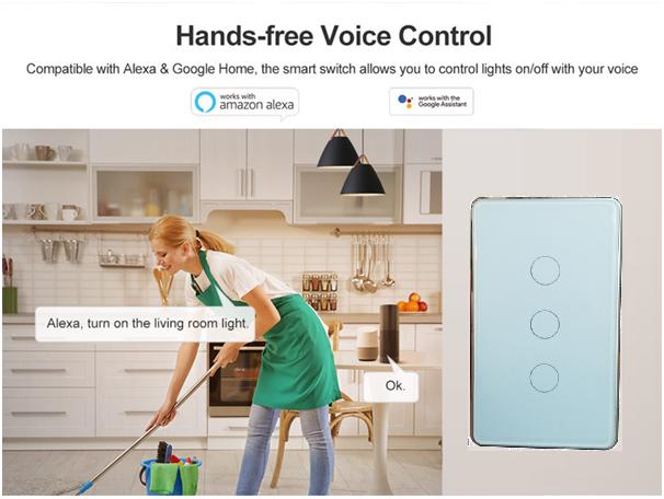 Tuya wifi switch voice control